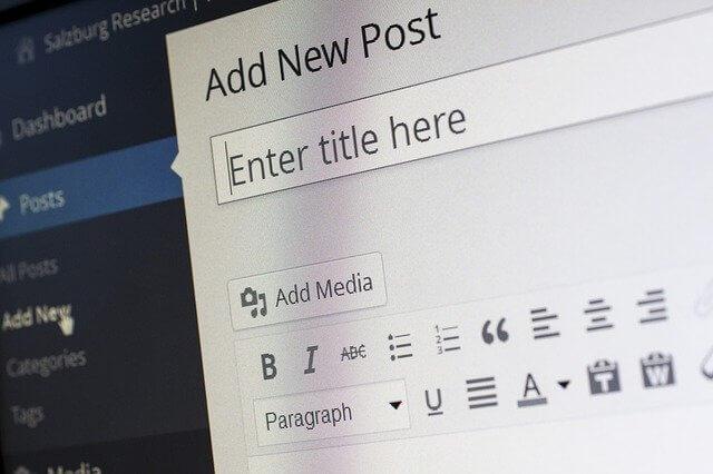 WordPress uusi artikkeli